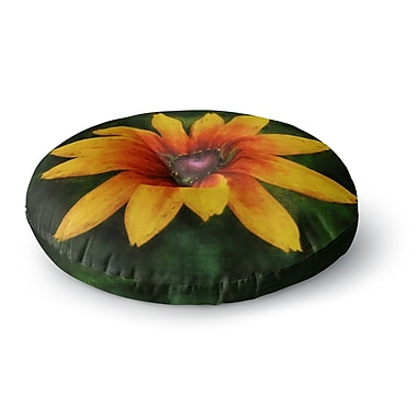 East Urban Home Ginkelmier Wildflower in Sun Photography Round Floor Pillow; 23'' x 23''