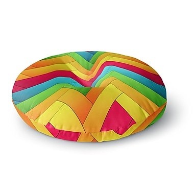 East Urban Home Danny Ivan Olympia Round Floor Pillow; 26'' x 26''