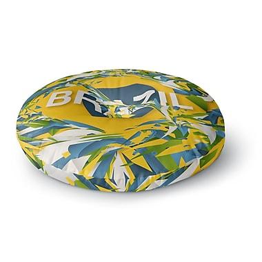 East Urban Home Danny Ivan Brazil World Cup Round Floor Pillow; 26'' x 26''
