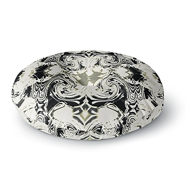 East Urban Home Dawid Roc The Palace Walls III Abstract Round Floor Pillow; 26'' x 26''