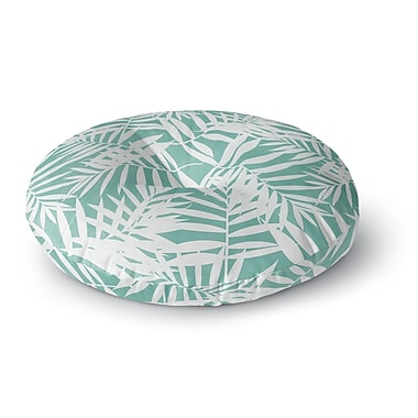 East Urban Home Cafelab Water Tropicana Theme Illustration Round Floor Pillow; 23'' x 23''
