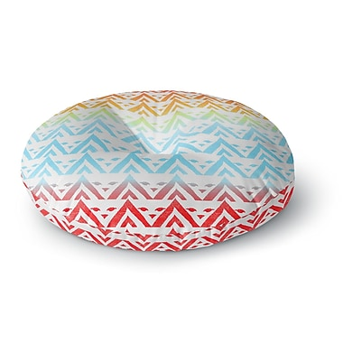East Urban Home Frederic Levy-Hadida Antilops Pattern Chevron Round Floor Pillow; 26'' x 26''