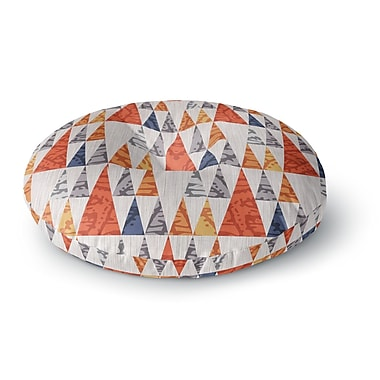 East Urban Home Daisy Beatrice Tepee Town Round Floor Pillow; 26'' x 26''