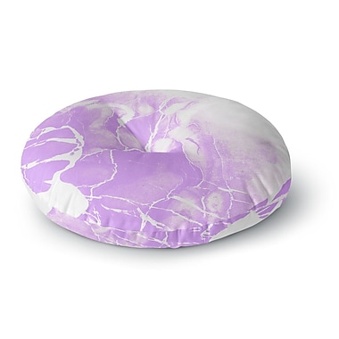 East Urban Home Cafelab Marble w/ Illustration Round Floor Pillow; 26'' x 26''