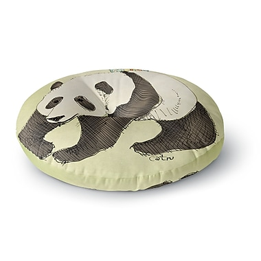 East Urban Home Carina Povarchik Happy Panda Animals Round Floor Pillow; 23'' x 23''