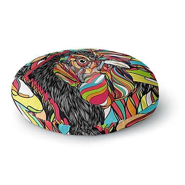 East Urban Home Danny Ivan Tropical Cock Round Floor Pillow; 26'' x 26''