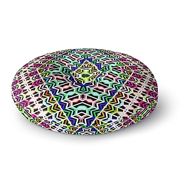 East Urban Home Dawid Roc Colorful Tribal Pattern Round Floor Pillow; 23'' x 23''