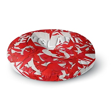 East Urban Home Danny Ivan England World Cup Round Floor Pillow; 26'' x 26''