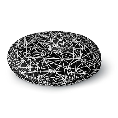 East Urban Home Fimbis Bionic Rays BW Digital Round Floor Pillow; 26'' x 26''