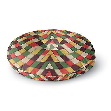 East Urban Home Danny Ivan Rastafarian Tile Round Floor Pillow; 26'' x 26''