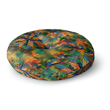 East Urban Home Danny Ivan No Way out Abstract Round Floor Pillow; 26'' x 26''