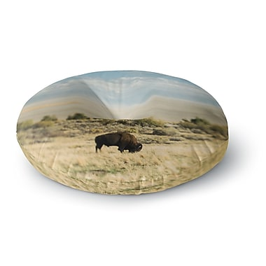 East Urban Home Chelsea Victoria Bison Americana Photography Round Floor Pillow; 23'' x 23''
