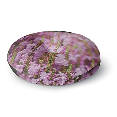 East Urban Home Chelsea Victoria Summer Blush Photography Round Floor Pillow; 26'' x 26''