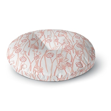 East Urban Home Danii Pollehn Poppy Illustration Round Floor Pillow; 23'' x 23''