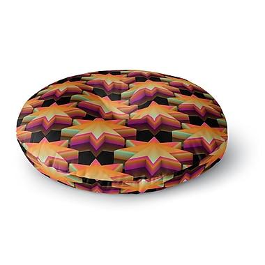 East Urban Home Danny Ivan Stars Pattern Round Floor Pillow; 26'' x 26''