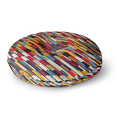 East Urban Home Danny Ivan Textured Round Floor Pillow; 26'' x 26''