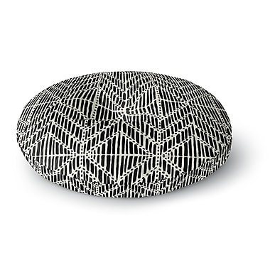 East Urban Home DLKG Design Tribal Drawings Chevron Round Floor Pillow; 23'' x 23''