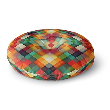 East Urban Home Danny Ivan Time Between Geometric Abstract Round Floor Pillow; 26'' x 26''