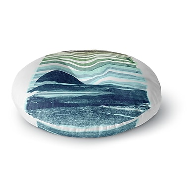 East Urban Home Frederic Levy-Hadida Sea Scape Stripes Round Floor Pillow; 26'' x 26''