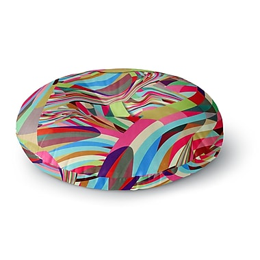 East Urban Home Danny Ivan Fun Round Floor Pillow; 23'' x 23''