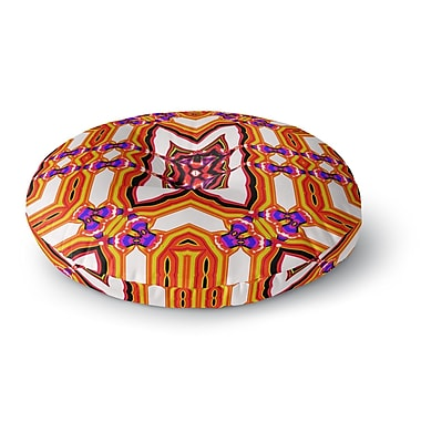 East Urban Home Dawid Roc Inspired by Psychedelic Art 4 Abstract Round Floor Pillow; 23'' x 23''