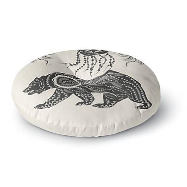 East Urban Home Famenxt Boho Ornate Bear Round Floor Pillow; 26'' x 26''