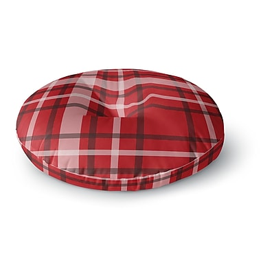 East Urban Home Famenxt Plaid Digital Round Floor Pillow; 23'' x 23''