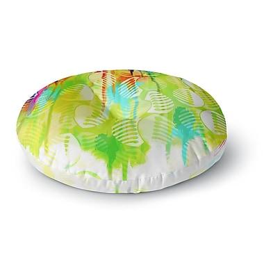 East Urban Home Dan Sekanwagi Poddy Combs Wet Paint Round Floor Pillow; 26'' x 26''