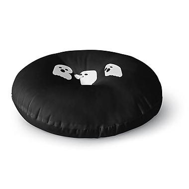 East Urban Home Eikwox Boo Vector Round Floor Pillow; 26'' x 26''