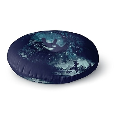 East Urban Home Frederic Levy-Hadida the Big Friend Fantasy Round Floor Pillow; 23'' x 23''