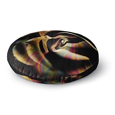 East Urban Home Ingrid Beddoes Rose Swirl Rainbow Round Floor Pillow; 26'' x 26''