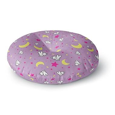 East Urban Home Jackie Rose Goodnight Usagi Magenta Round Floor Pillow; 26'' x 26''