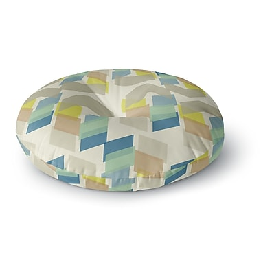 East Urban Home Gukuuki Kobob Chevron Geometric Round Floor Pillow; 26'' x 26''