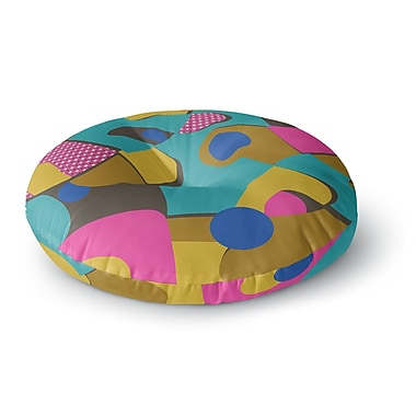 East Urban Home Jacqueline Milton Free-Form Vector Round Floor Pillow; 23'' x 23''