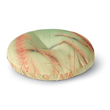 East Urban Home Graphic Tabby Dancing in Spring Round Floor Pillow; 23'' x 23''