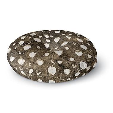 East Urban Home Iris Lehnhardt Dots Grunge Round Floor Pillow; 26'' x 26''