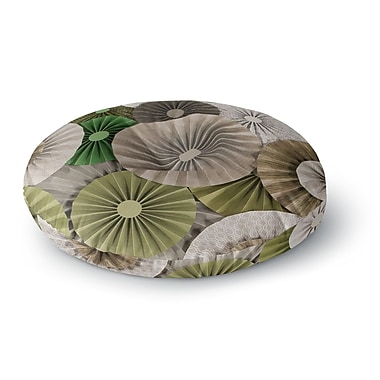 East Urban Home Heidi Jennings Forest Abstract Round Floor Pillow; 26'' x 26''