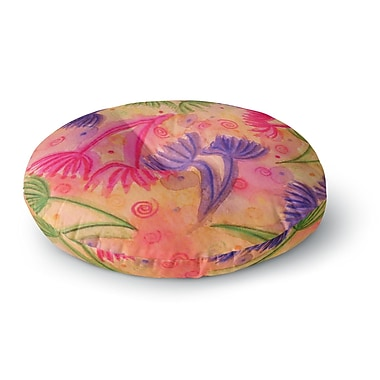 East Urban Home Ebi Emporium Cow Parsley Round Floor Pillow; 26'' x 26''
