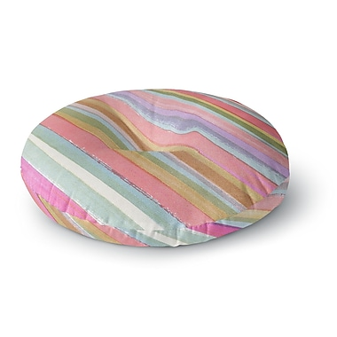 East Urban Home Heidi Jennings Stripes Round Floor Pillow; 26'' x 26''