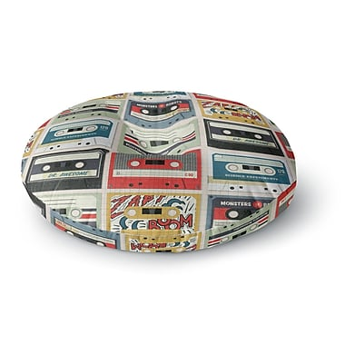 East Urban Home Heidi Jennings Retro Tape Round Floor Pillow; 23'' x 23''