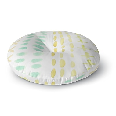 East Urban Home Jennifer Rizzo Dots And Dashes Round Floor Pillow; 26'' x 26''
