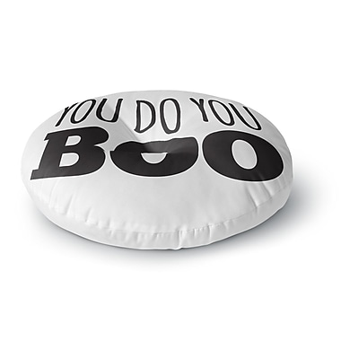 East Urban Home You Do You Boo Round Floor Pillow; 23'' x 23''