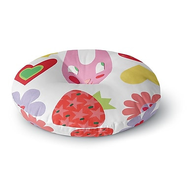 East Urban Home Jane Smith Summer Repeat Round Floor Pillow; 23'' x 23''