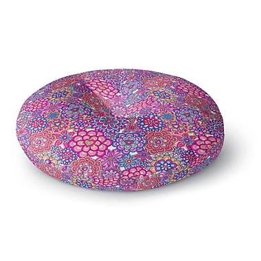 East Urban Home Julia Grifol My Happy Flowers Round Floor Pillow; 26'' x 26''
