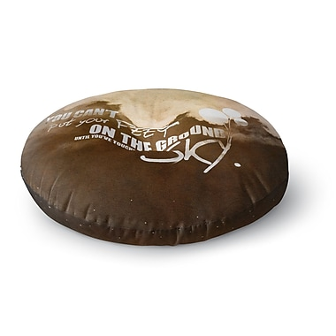 East Urban Home Touch the Sky Round Floor Pillow; 26'' x 26''