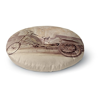 East Urban Home Jillian Audrey The Bicycle Photography Round Floor Pillow; 26'' x 26''