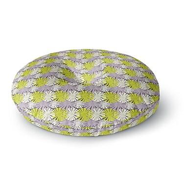 East Urban Home Julie Hamilton Zinnia Round Floor Pillow; 23'' x 23''