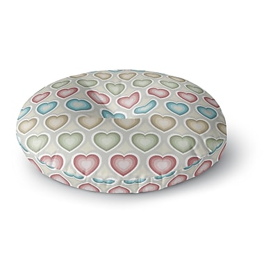 East Urban Home Julia Grifol My Hearts Round Floor Pillow; 26'' x 26''