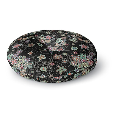 East Urban Home Julia Grifol My Small Flowers Round Floor Pillow; 26'' x 26''