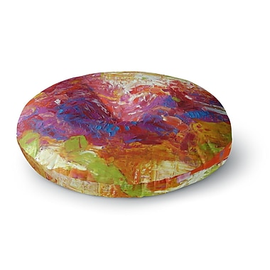 East Urban Home Jeff Ferst Sonoran Fantasy Abstract Round Floor Pillow; 23'' x 23''